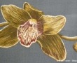 Baltic Orchid on silk background fabric