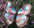 Silkshaded or needle painted/painting stumpwork butterfly