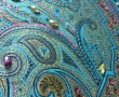 Background silk fabric to hand embroidered appliqué including machine embroidery and beading