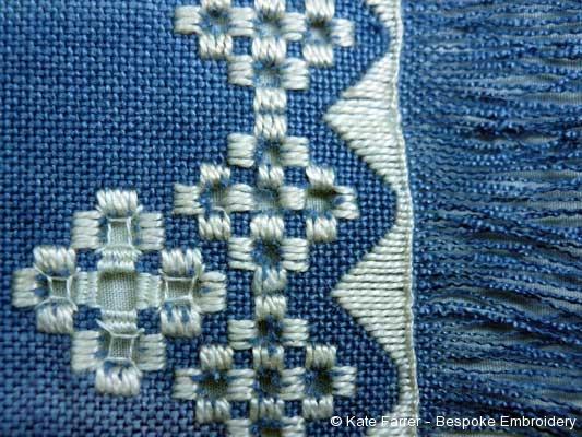 Hardanger whitework hand embroidery